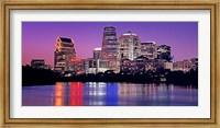 USA, Texas, Austin, View of an urban skyline at night Fine Art Print