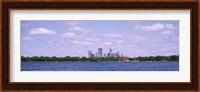 Skyscrapers in a city, Chain Of Lakes Park, Minneapolis, Minnesota, USA Fine Art Print