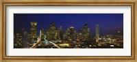 Buildings at Night, Dallas, Texas Fine Art Print