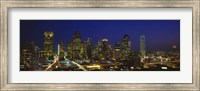 Buildings at Night, Dallas, Texas Fine Art Print