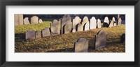 Tombstones in a cemetery, Copp's Hill Burying Ground, Boston, Massachusetts Fine Art Print