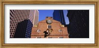 Low angle view of a golden eagle outside of a building, Old State House, Freedom Trail, Boston, Massachusetts, USA Fine Art Print