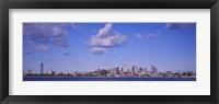 City at the waterfront, Boston, Massachusetts, USA Fine Art Print