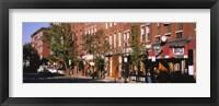 Stores along a street, North End, Boston, Massachusetts, USA Fine Art Print