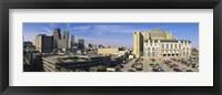 Hospital in a city, Grady Memorial Hospital, Skyline, Atlanta, Georgia, USA Fine Art Print