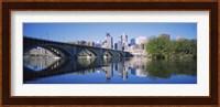 Arch bridge across a river, Minneapolis, Hennepin County, Minnesota, USA Fine Art Print
