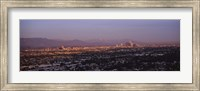 Aerial view of Hollywood and San Gabriel Mountains Fine Art Print
