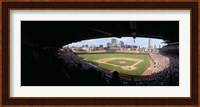 High angle view of a baseball stadium, Wrigley Field, Chicago, Illinois, USA Fine Art Print