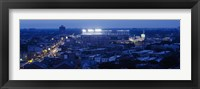Aerial view of a city, Wrigley Field, Chicago, Illinois, USA Fine Art Print
