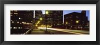 Traffic on a bridge in a city, Northern Avenue Bridge, Boston, Suffolk County, Massachusetts, USA Fine Art Print