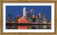 Reflection of skyscrapers in a lake, Digital Composite, Dallas, Texas, USA Fine Art Print