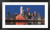 Reflection of skyscrapers in a lake, Digital Composite, Dallas, Texas, USA Fine Art Print