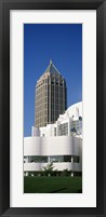 Art museum in front of a skyscraper, High Museum Of Art, Atlanta, Fulton County, Georgia, USA Fine Art Print