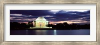 Monument lit up at dusk, Jefferson Memorial, Washington DC, USA Fine Art Print
