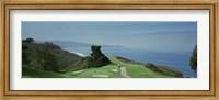Golf course at the coast, Torrey Pines Golf Course, San Diego, California, USA Fine Art Print