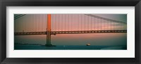 Bridge across the river, Verrazano-Narrows Bridge, New York Harbor, New York City, New York State, USA Fine Art Print