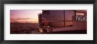 Hotel lit up at dusk, Palms Casino Resort, Las Vegas, Nevada, USA Fine Art Print