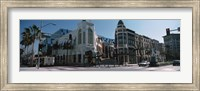 Street Corner at Rodeo Drive, Beverly Hills, California Fine Art Print