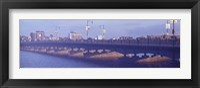 Bridge across a river, Longfellow Bridge, Charles River, Boston, Suffolk County, Massachusetts, USA Fine Art Print