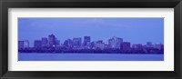 Skyscrapers at the waterfront, Charles River, Boston, Suffolk County, Massachusetts, USA Fine Art Print