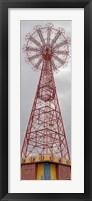 Parachute Jump Tower along Riegelmann Boardwalk, Long Island, Coney Island, New York City, New York State, USA Fine Art Print