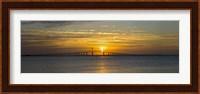 Sunrise over Sunshine Skyway Bridge, Tampa Bay, Florida, USA Fine Art Print