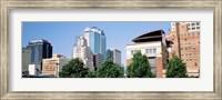 Low angle view of skyline, Kansas City, Missouri, USA Fine Art Print