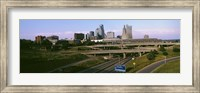 Highway interchange, Kansas City, Missouri, USA Fine Art Print