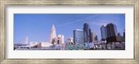 Low angle view of downtown Kansas City Fine Art Print