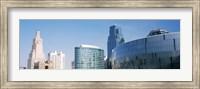 Low angle view of downtown skyline, Sprint Center, Kansas City, Missouri, USA Fine Art Print