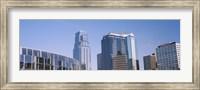 Low angle view of downtown skyline, Town Pavilion, Kansas City, Missouri Fine Art Print