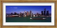 Buildings at the waterfront, Detroit, Michigan Fine Art Print