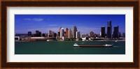 Buildings at the waterfront, Detroit, Michigan Fine Art Print