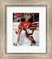 Martin Brodeur On Hockey Ice Fine Art Print
