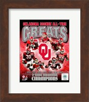 University of Oklahoma Sooners All Time Greats Composite Fine Art Print