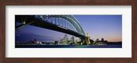 Low angle view of a bridge, Sydney Harbor Bridge, Sydney, New South Wales, Australia Fine Art Print