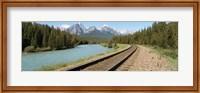 Railroad Tracks Bow River Alberta Canada Fine Art Print
