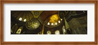 Low angle view of a ceiling, Aya Sophia, Istanbul, Turkey Fine Art Print
