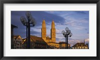 Low angle view of a church, Grossmunster, Zurich, Switzerland Fine Art Print