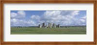 England, Wiltshire, View of rock formations of Stonehenge Fine Art Print