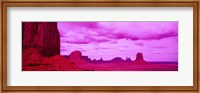 Rock Formations with Purple Clouds, Monument Valley, Arizona, USA Fine Art Print