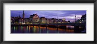 River Limmat Zurich Switzerland Fine Art Print