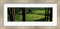 Four people playing golf, Country Club Of Vermont, Waterbury, Washington County, Vermont, USA Fine Art Print