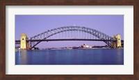 Bridge across a sea, Sydney Harbor Bridge, Sydney, New South Wales, Australia Fine Art Print