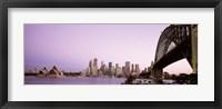 Sydney Harbor Bridge with Purple Sky, Sydney, Australia Fine Art Print