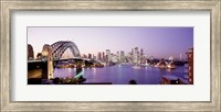 Bridge over an inlet, Sydney Harbor Bridge, Sydney, New South Wales, Australia Fine Art Print