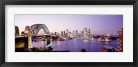 Bridge over an inlet, Sydney Harbor Bridge, Sydney, New South Wales, Australia Fine Art Print