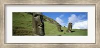 Stone Heads, Easter Islands, Chile Fine Art Print
