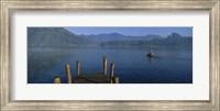 Pier On A Lake, Santiago, Lake Atitlan, Guatemala Fine Art Print