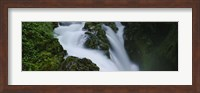 High angle view of a waterfall, Sol Duc Falls, Olympic National Park, Washington State, USA Fine Art Print